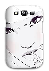 HqZAMsr1154SUzDd MichaelTH Awesome Case Cover Compatible With Galaxy S3 - Pierced Animed Girl
