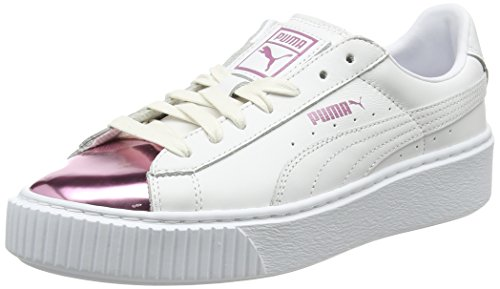 Metallic Platform White para Basket lilac Mujer Blanco Zapatillas Snow Puma vwq0F5nEE