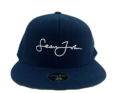 Sean John Men's Fitted Ball Cap Hat Royal Blue M/L
