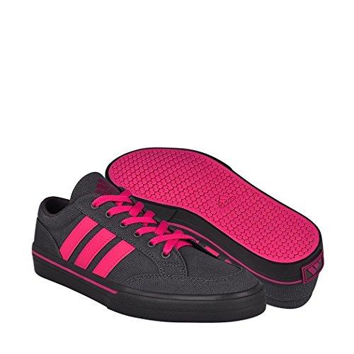Tenis casuales Adidas unisex textil gris con fiucsa AQ6597 22.5