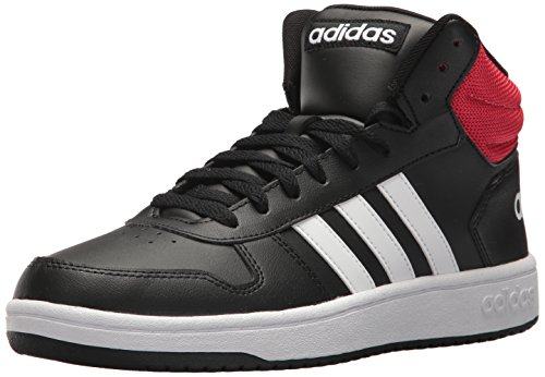 adidas  Men's VS Hoops Mid 2.0, Core Black/White/Scarlet, 8 M US (Shoe For Basketball)