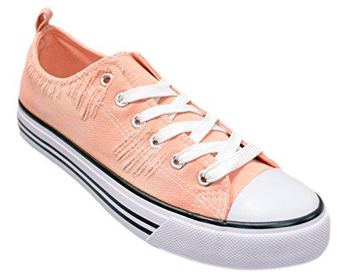 Shop Pretty Girl Damen Sneakers Casual Leinwand Schuhe Solid Farben Low Top Lace Up Flache Mode Zerrissenes Erröten