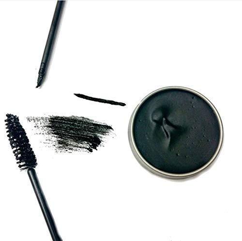 Black Vegan Zero Waste Cake Mascara, Organic Mascara, Zero Waste Eyeliner, Plastic Free Makeup, Cruelty Free, Christmas Gift for Her, Halloween