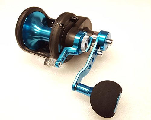 (Daiwa STTLD40-2SPD Saltist 2-Speed Conventional Lever Drag Reel, Blue)