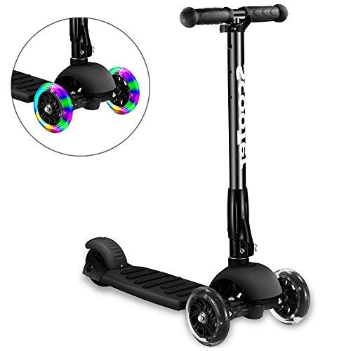 Greentest Scooter Foldable Adjustable Height Easy Turning 3 Wheel Kick Scooter for...