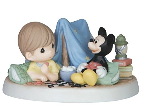 Precious Moments Disney Every Day Is An Adventure With You Boy & Mickey Mouse Camping