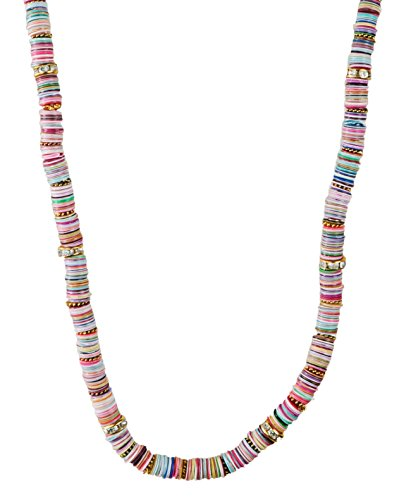 Light Multi-Colored Sequin Gold Long Necklace - SPUNKYsoul Collection - Link Multi Colored Earrings