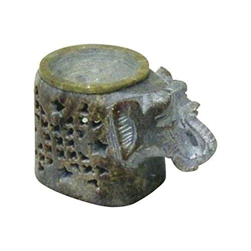(Soapstone Elephant Aroma Lamp - Nautical Decor)