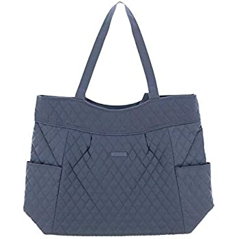 3d8d2a5a04 Vera Bradley Pleated Tote (Carbon Gray)