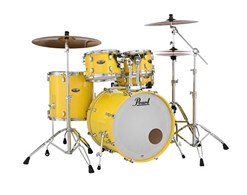 Pearl Decade DMP925SP/C228 5 Piece Drum Shell Pack, Solid Yellow