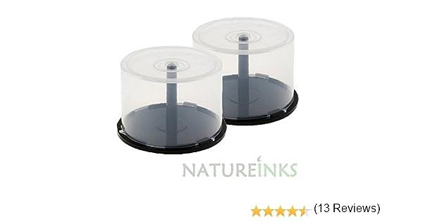 Caja de Almacenamiento de CD y DVD vacía para Tartas, 2 Unidades, 50 Unidades, de plástico, para DVD, CD, Disco bluray, Caja de Pastel con husillo (Capacidad para 100 Discos): Amazon.es: Electrónica