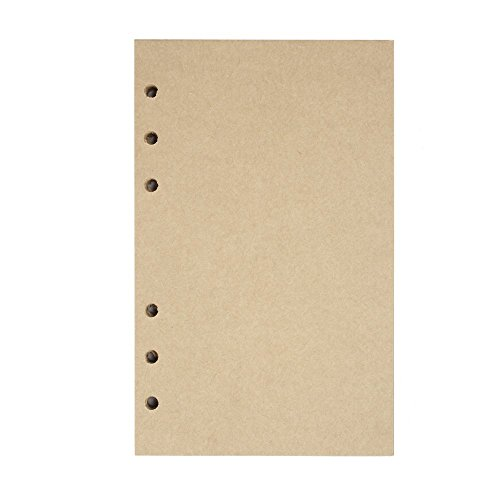 Full Sheet Refill (Refill Paper A6 Loose-leaf Papers for Maleden & EvZ 7 Inches Travel Notebook Journal 6 Hole 3.75 by 6.75 Inches Blank Page Filler Craft Paper, 160 Sheets/ 320 Pages)
