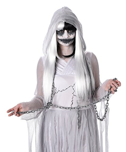 Scariest Womens Costumes (Ghost Costume - Women's Ghost Halloween Dress for Halloween and Dress up, Size M)