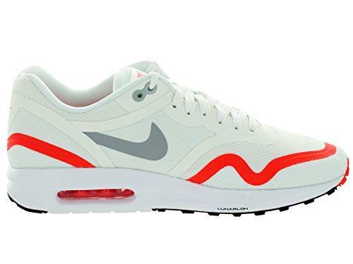 Air Max Lunar1 654469-102 Blanc / Gris / Loup Mens Rouges Chaussures De Course