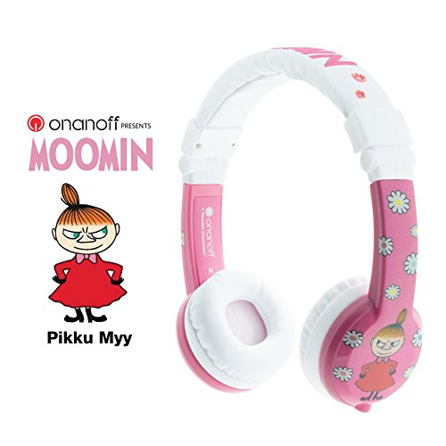 for iPad comp volume limiting lock 2 Pack In Line Mic super durable Explore Foldable Model: Foldable Detachable Cable Kids Headphones by Onanoff housing adjustable Pink built in headphone splitter Blue