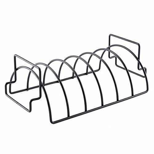 - Rib Rack for Grilling,Non-Stick Stainless Steel BBQ Tools Steak Holders with 2 Handle Rack Grill Stand Roasting BBQ Rib Rack Kitchen Outdoor Barbecue Accessories
