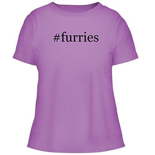 BH Cool Designs #Furries - Cute Women's Graphic Tee, Lavender, Medium -