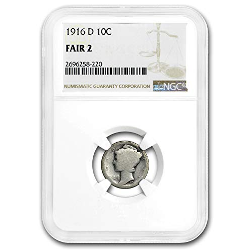 1916 D Mercury Dime Fair-2 NGC Dime FR-2 NGC - Dimes Ngc