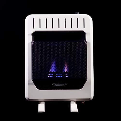 Sure Heat BWH10NLMC Dual Fuel Flame Wall or Floor Mount Heater, 10K BTU, Beige/Tan/Blue