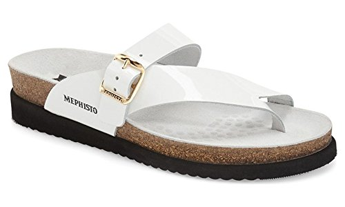 Mephisto Women's Helen Sandal,White Patent Leather,US 5 M by Mephisto