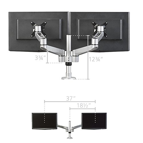 Pedestal Arm (RightAngle HS1221 Hover Series Dual Mount Monitor Arm, Monitor Stand)