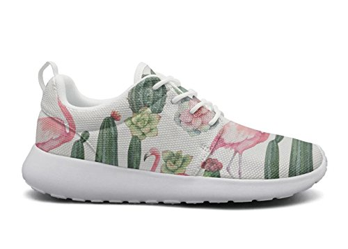 chams Fashion Roshe Cactus Mesh Pattern Sneakers Succulents Cute Cactus 1 And Flex Hoohle Womens Lightweight Sports Shoes PSwqxIqH