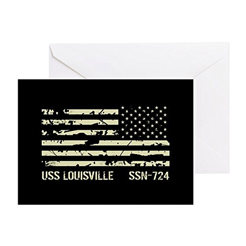 CafePress - USS Louisville - Greeting Card, Note Card, Birthday Card, Blank Inside ()