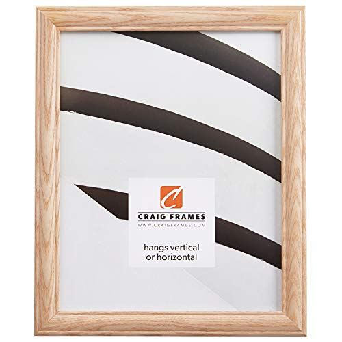 Craig Frames Wiltshire 68 Raw Empty Picture Frame, 24 by 36-Inch Ash Frame Shell.84-Inch Wide Unfinished - Frame 24 Traditional