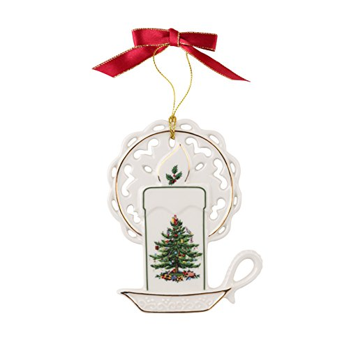 Candle Spode Christmas Tree Ornament