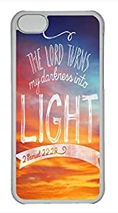 iPhone 5c case, Cute The Lord Turns My Darkness Into Light iPhone 5c Cover, iPhone 5c Cases, Hard Clear iPhone 5c Covers