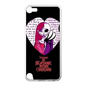 Love Heart Quotes The Nightmare Before Christmas Custom Cover Case for IPod Touch 5 TPU (Laser Technology)