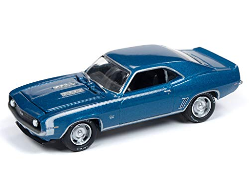 Johnny Lightning JLMC019 Muscle Car 1969 Chevy Camaro VER A Lemans Blue (Chevy Camaro Muscle Car)