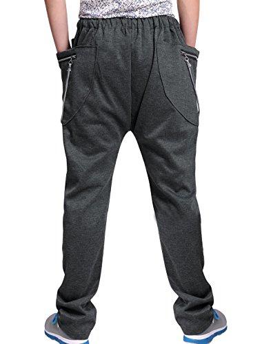 Allegra K Men Drawstring Waist Zipper Decor Pockets Casual Pants