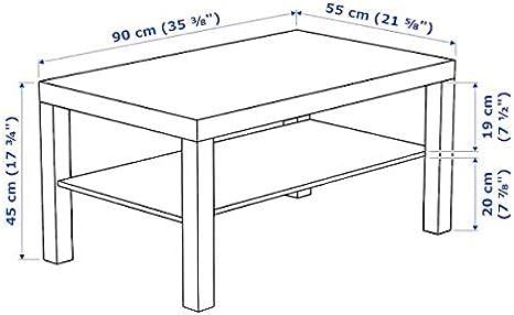 Ikea Lack - Mesa de Centro (90 x 55 cm), Color Blanco