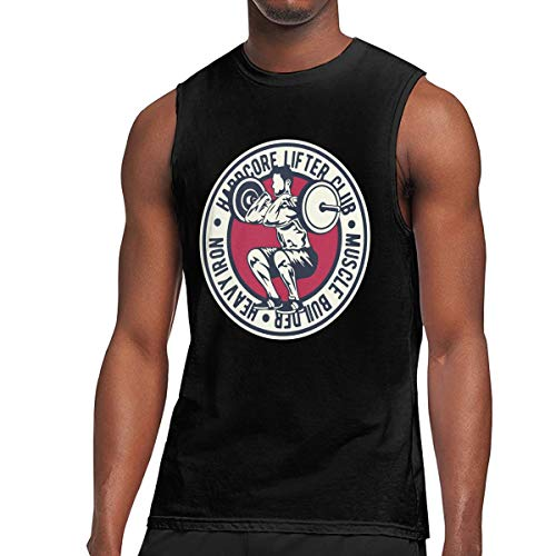 Q81CHO@ Mens Weight Lifting Muscle Sleeveless T-Shirt, Essential Tank Top for Sports Fitness Black