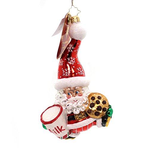 Christopher Radko Snack Time Santa Ornament (Old Time Santa)