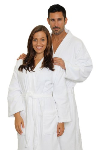 TowelBathrobe Velour Kimono Bathrobe White