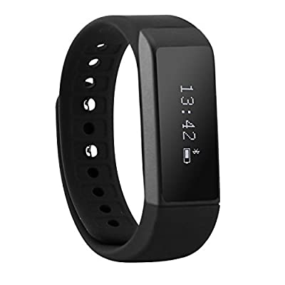 Sudroid Smart Bracelet Fitness Tracker Smart Watch Sports Bluetooth For Smartphone Pedometer Tracking Calorie Health Sleep Monitor (Black)