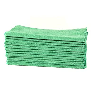 Detailer's Garage All Purpose Professional Grade Work Microfiber Towels, Green (16 in. x 16 in.) (Pack of 12) (Green): Automotive