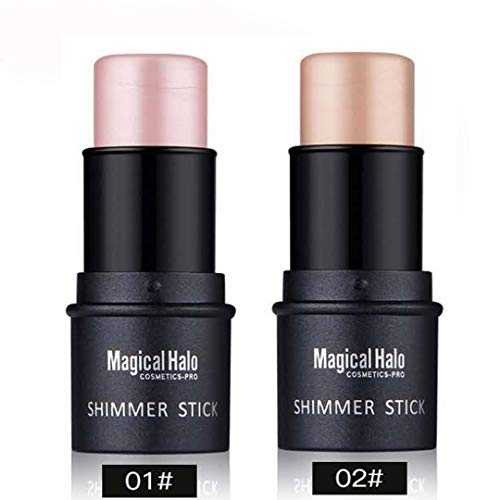 Highlighter Stick, NICEFACE Shimmer Cream Powder Waterproof Light Face Cosmetics (2 colors) ()