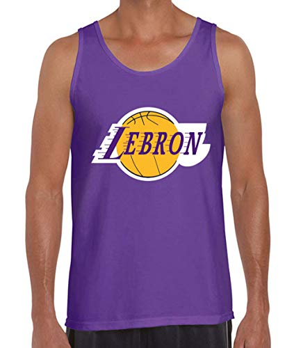Purple Los Angeles Lebron Logo Tank Top Adult