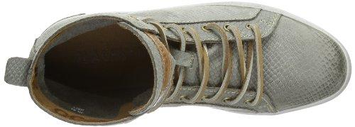 Blackstone SNEAKER NUBUCK HL81 - Zapatillas de cuero para mujer, color beige, talla 36 Gris