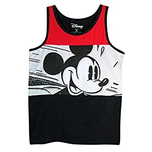 Boys Disney Red, White, and Black Mickey Mouse Speed Tank Top Shirt