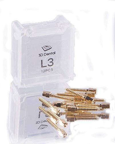 House Brand 3D-GP-M1 3D Dental Gold Screw Posts M1 (Pack of 12)