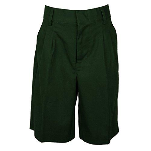 Universal Boys' Pleated Front School Uniform Short Hunter Green Size 12