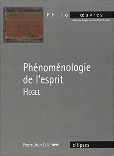 Lire un Hegel Phénoménologie de l'Esprit pdf, epub