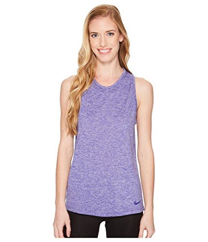 NIKE Dry Tomboy Cross-Dye Tank Top Women's Sleeveless (Fusion Violet/HTR/Small)