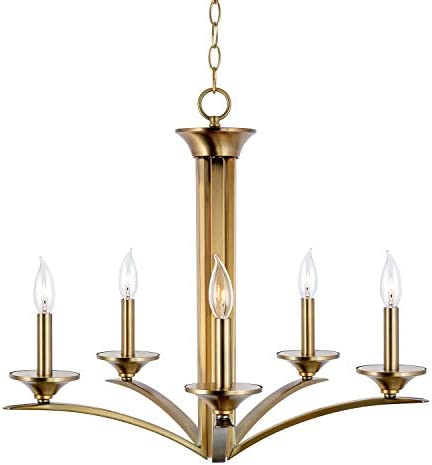 Kira Home Albany 25 Contemporary 5-Light Chandelier Lighting Fixture