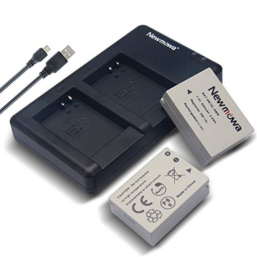 Newmowa NB-10L Battery (2 Pack) and Dual USB Charger Kit for Canon NB-10L, CB-2LC and Canon PowerShot G1 X, G15, G16, SX40 HS, SX50 HS SX60 HS Digital - 2lc Kit