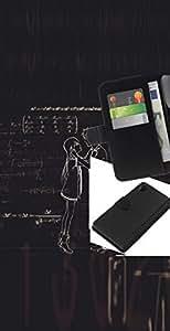 LECELL--Cuero de la tarjeta la carpeta del tirón Smartphone Slots Protección Holder For Sony Xperia Z2 D6502 -- SteinsGate --
